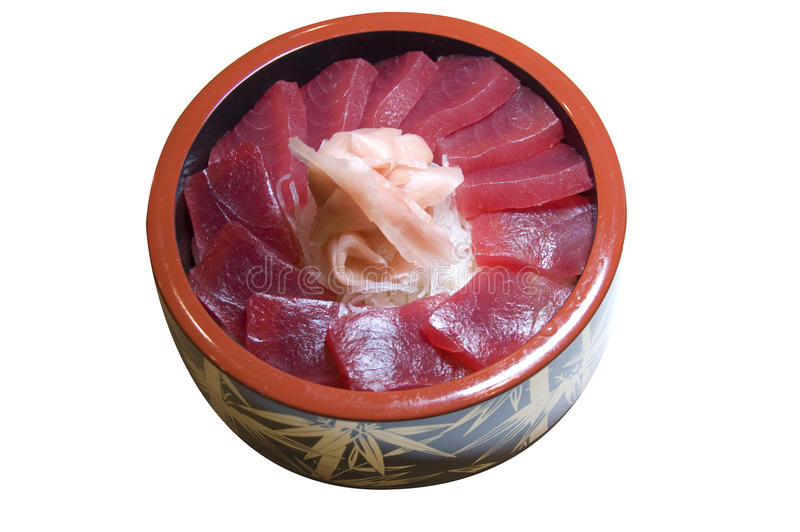 Chirashi do atum fotografia de stock