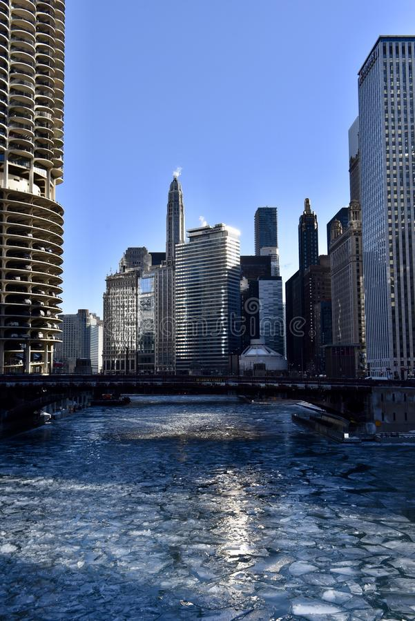 Chircago River from the LaSalle Street Bridge royalty free stock images
