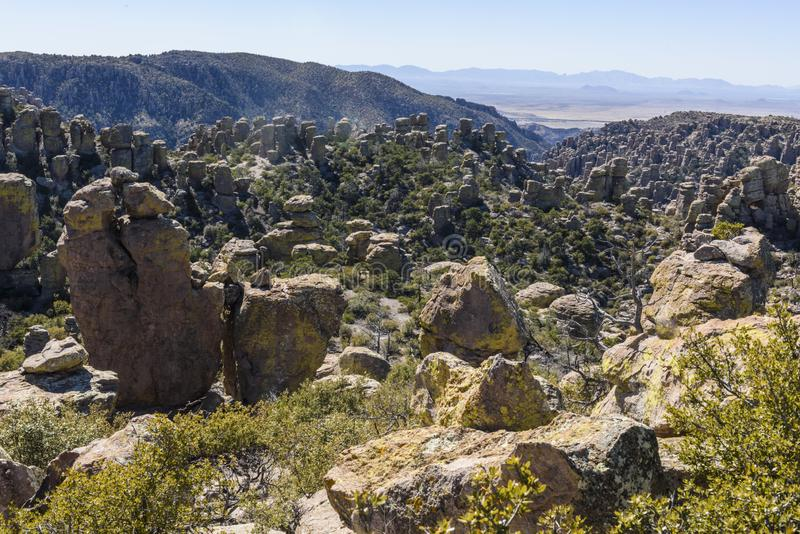 Rock Formations at Chiricahua National Monument. stock images