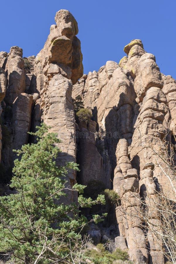 Rock Hoodoos of Chiricahua National Monument. royalty free stock image