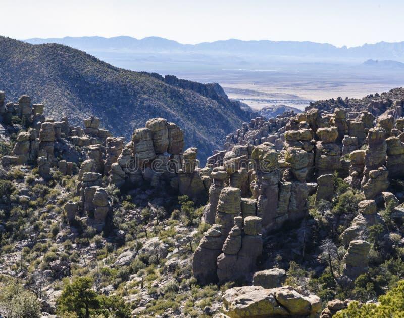Rock Hoodoos of Chiricahua National Monument. stock photography