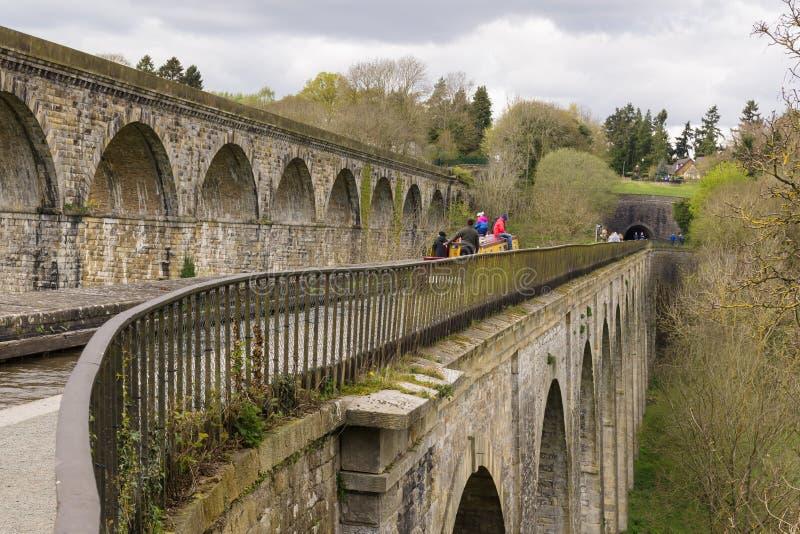 Chirk виадук и тоннель мост-водовода стоковая фотография