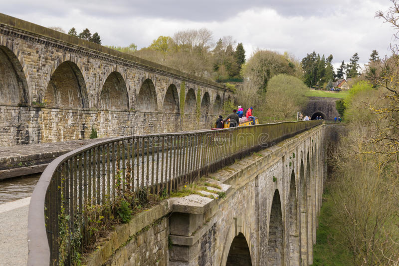Chirk Aquaductviaduct en Tunnel stock fotografie
