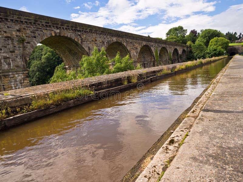 Chirk el acueducto y el viaducto imágenes de archivo libres de regalías