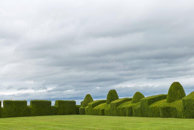 Chirk el castillo y su jardín, País de Gales, Inglaterra imágenes de archivo libres de regalías