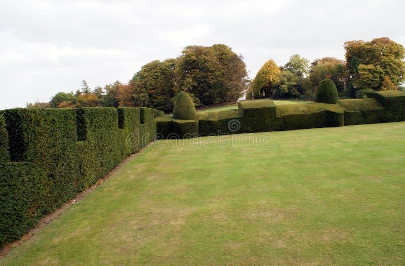 Chirk el jardín del castillo en Inglaterra fotografía de archivo libre de regalías