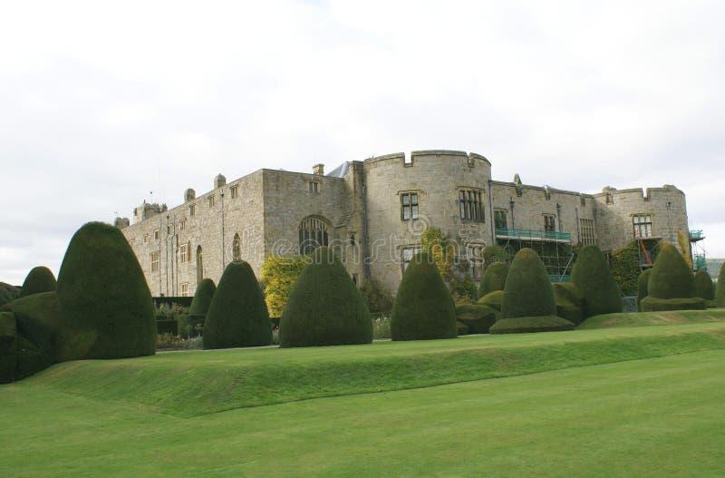 Chirk el jardín del castillo y del topiary en Wrexham, País de Gales, Inglaterra, Europa fotos de archivo