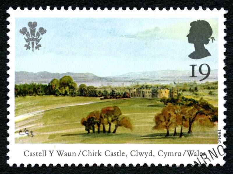 Chirk el sello BRITÁNICO del castillo foto de archivo