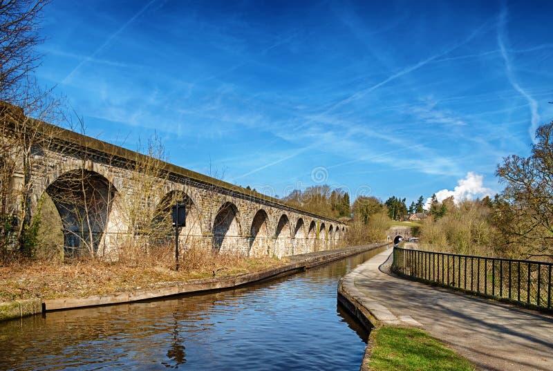 Chirk o viaduto e o aquaduct fotos de stock royalty free