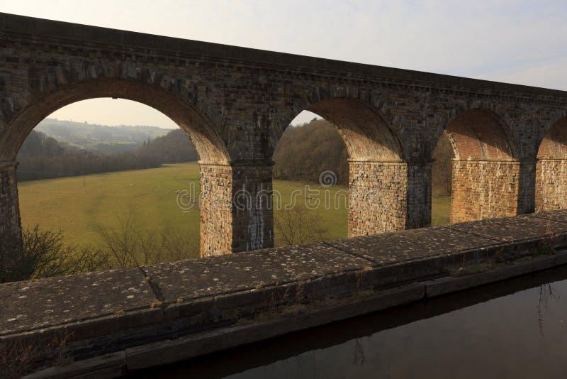 Chirk o viaduto railway fotos de stock