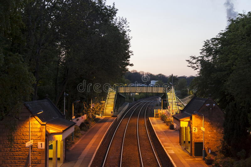 Chirk Railway Station royalty free stock image