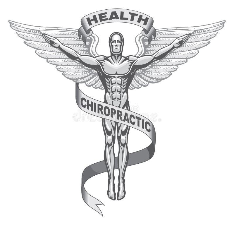 chiropractic σύμβολο διανυσματική απεικόνιση