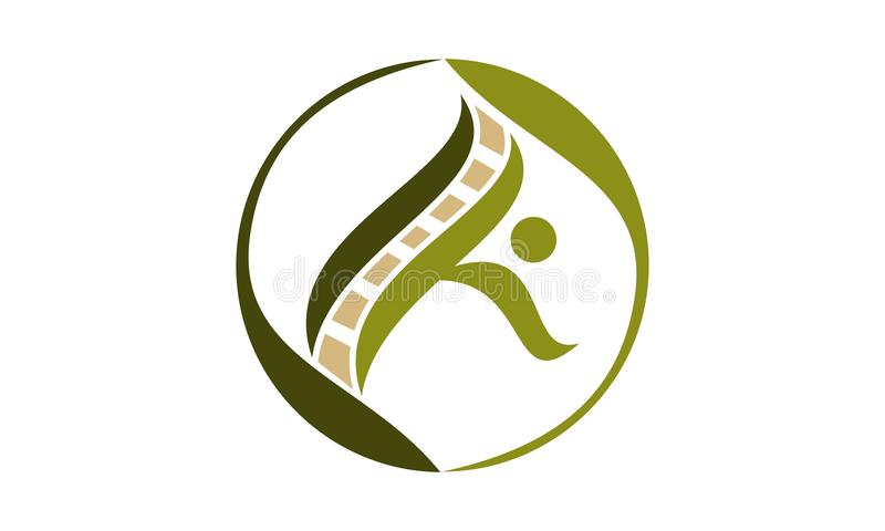 Chiropractic and Acupuncture. Logo Design Template Vector royalty free illustration