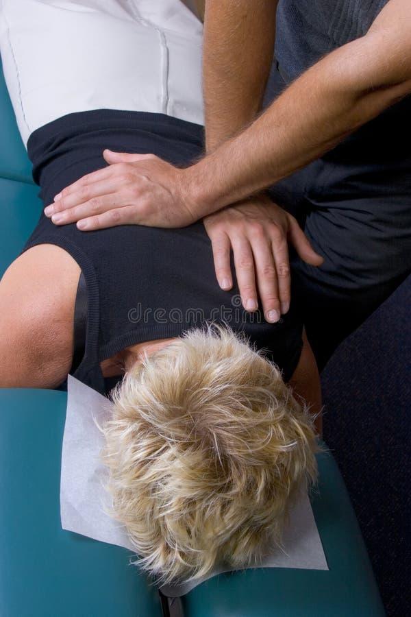 chiropractic för 01 justering royaltyfri bild
