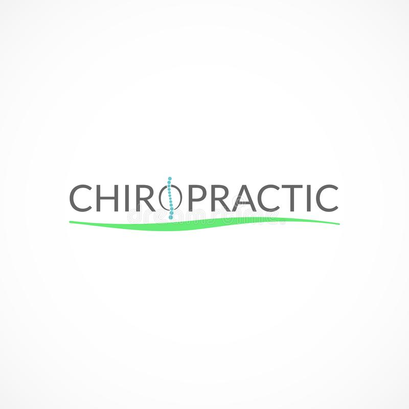 Chiropractic logo. Chiropractic stylized logo. Effective alternative medicine illustration stock illustration