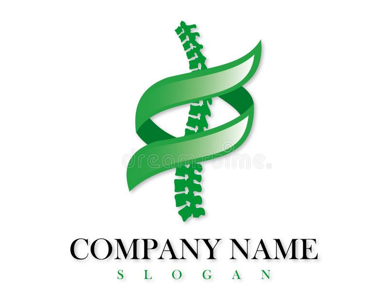 Chiropractic logo design. On white background royalty free illustration