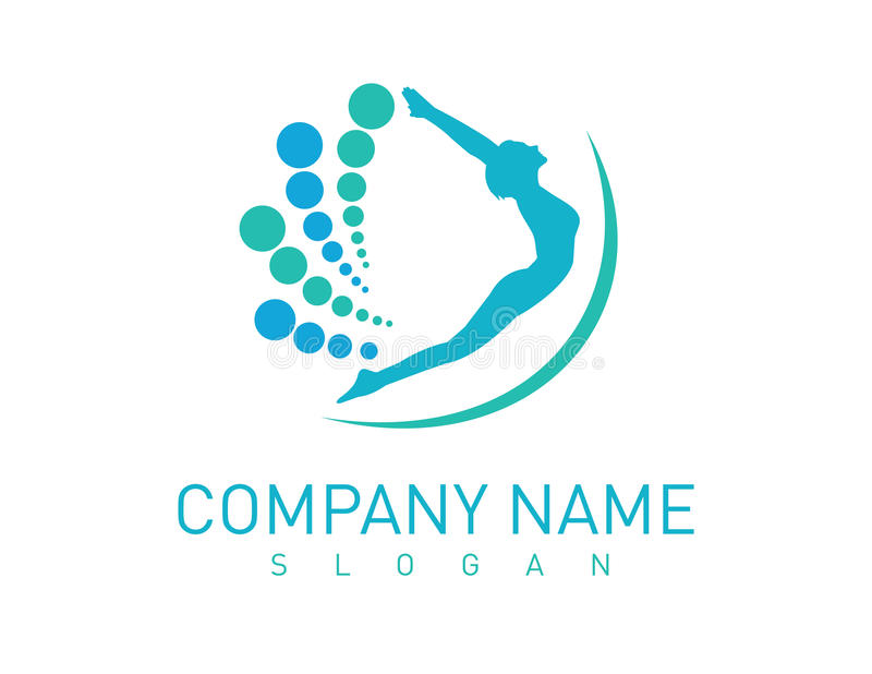 Chiropractic logotype. On white background vector illustration