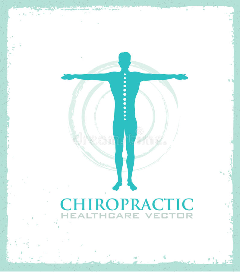 Chiropractic, massage, back pain and osteopathy icon. Chiropractic massage, back pain and osteopathy icon royalty free illustration