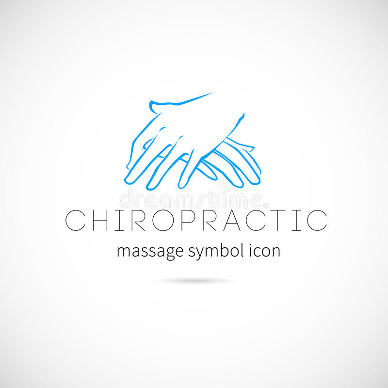 Chiropractic Massage Vector Concept Icon Symbol or. Label Isolated vector illustration