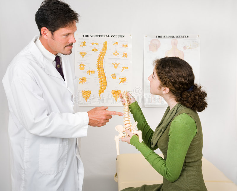 At the Chiropractor royalty free stock image