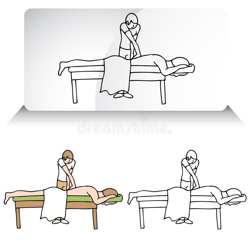 Chiropractor Aligning Spine royalty free illustration
