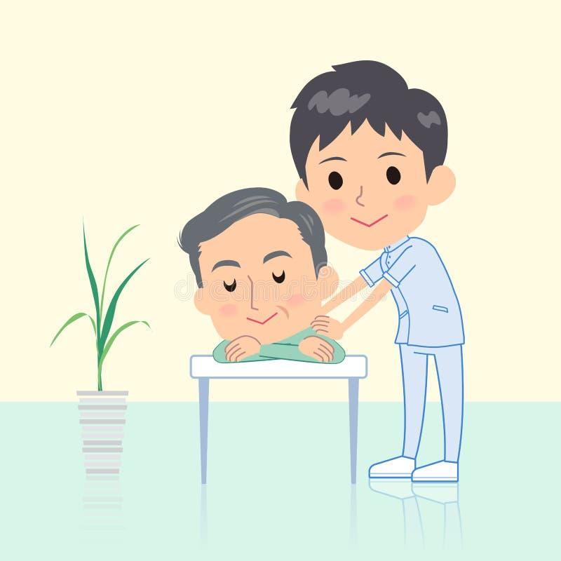 Chiropractor man massage vector illustration
