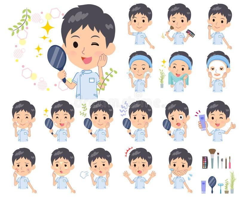 Chiroprakteur men_beauty illustration stock