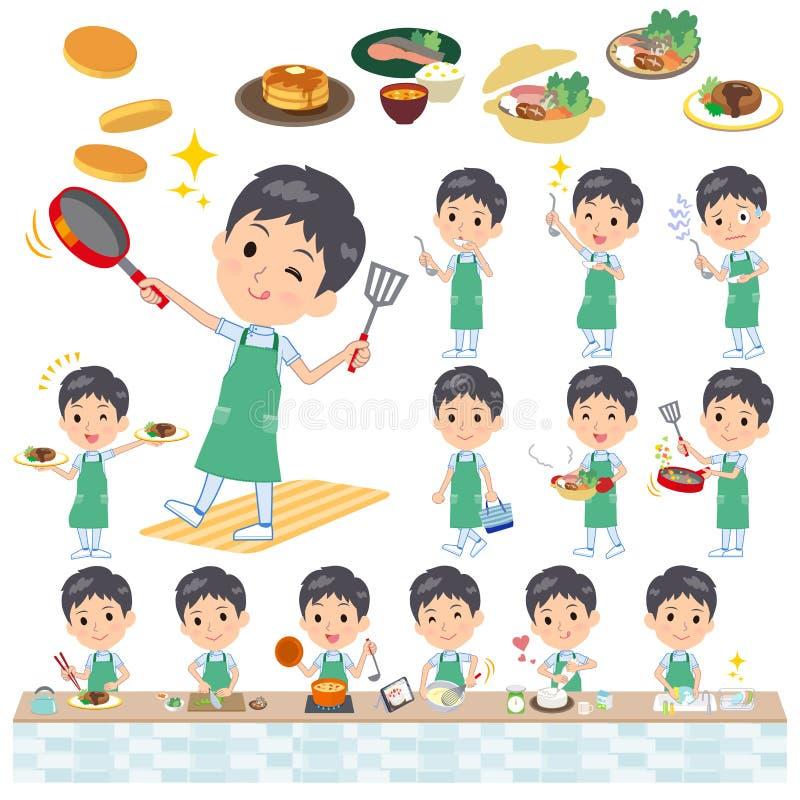 Chiroprakteur men_cooking illustration libre de droits