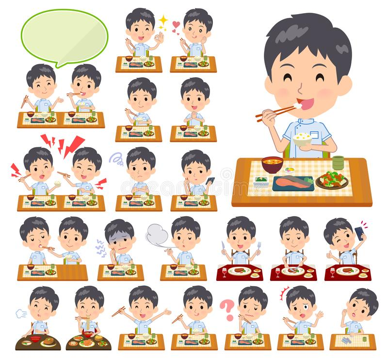 Chiroprakteur men_Meal illustration de vecteur
