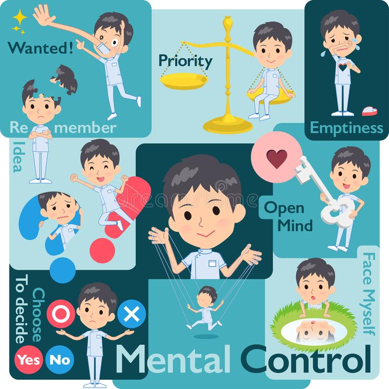 Chiroprakteur men_Mental illustration de vecteur
