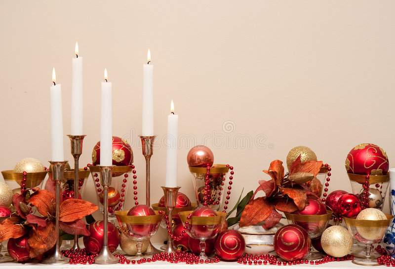 Download Chirstmas background stock image. Image of gold, candles - 7614635
