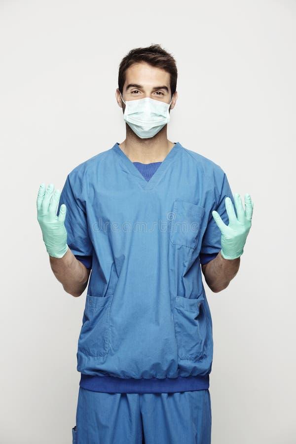 Chirurg in der Uniform stockbilder