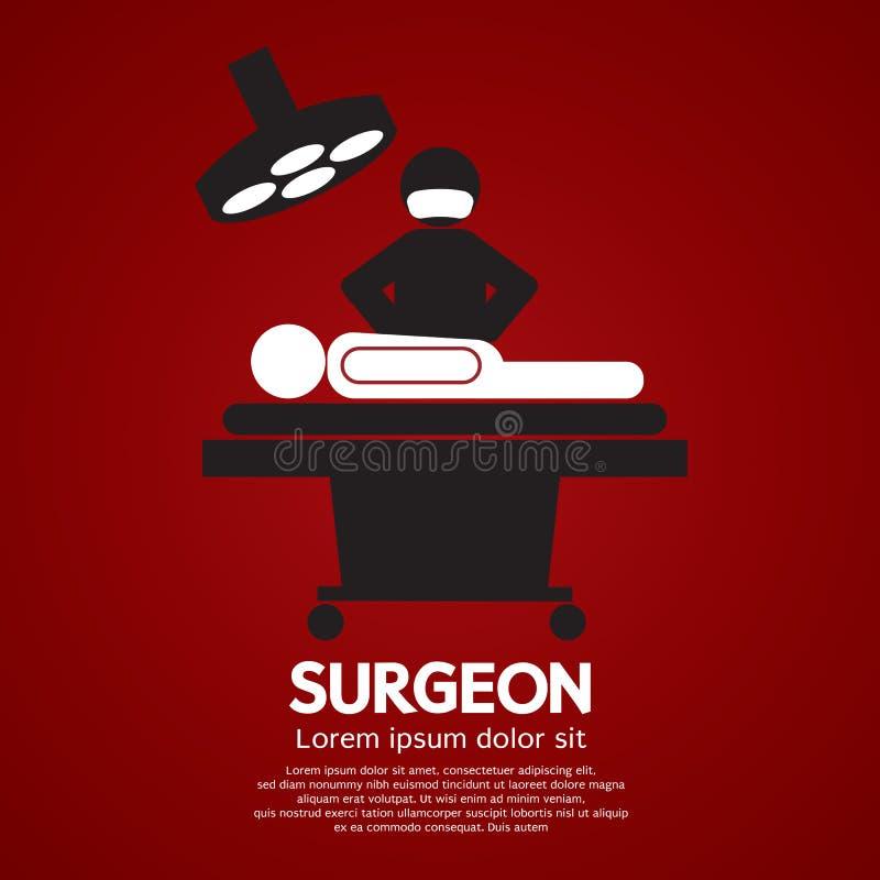 Chirurg Działa Dalej pacjenta znaka ilustracja wektor