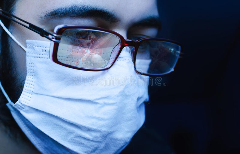 Chirurg op het Werk royalty-vrije stock fotografie