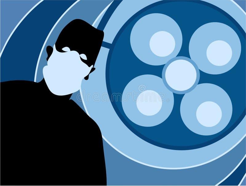 Chirurg-Schattenbild lizenzfreie abbildung