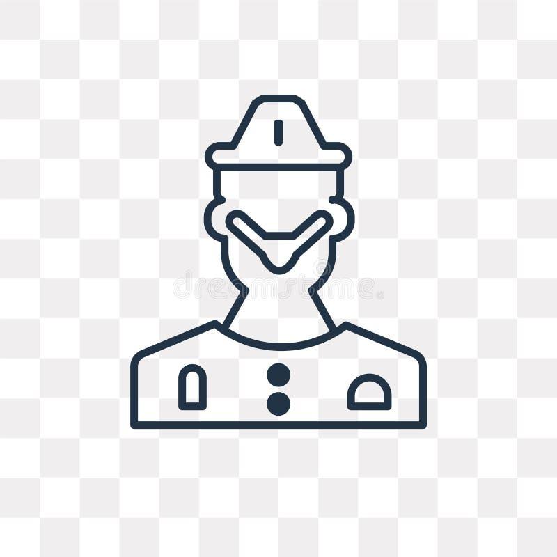 Chirurg wektorowa ikona odizolowywająca na przejrzystym tle, liniowy S ilustracji