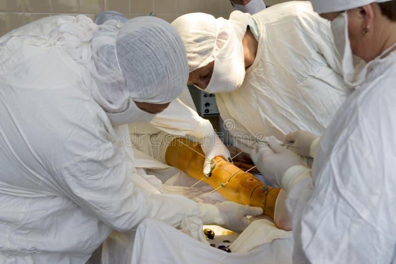 Chirurgen bei der Arbeit lizenzfreies stockbild