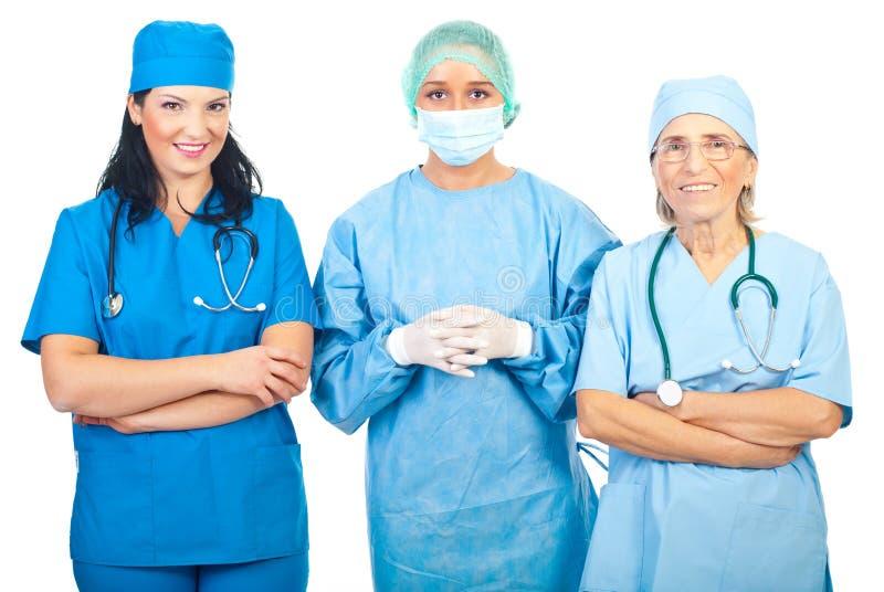 Chirurgfrauengruppe lizenzfreie stockfotografie