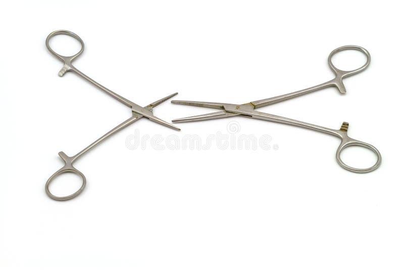 Chirurgicznie instrument na białym tle (hemostat lub arterii kahat) fotografia stock