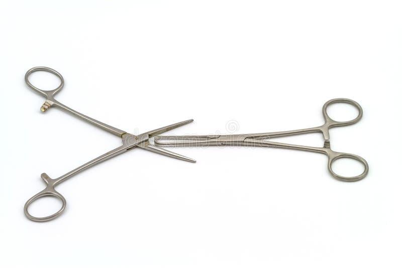 Chirurgicznie instrument na białym tle (hemostat lub arterii kahat) obrazy royalty free