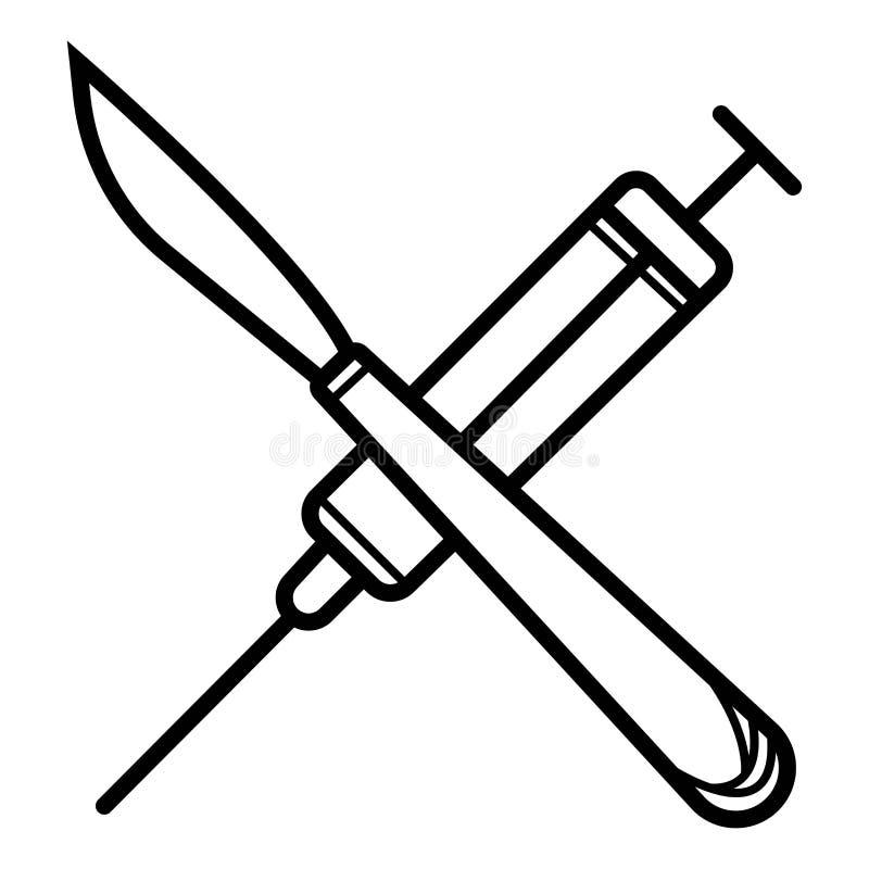 Chirurgicznie instrumentu ikony wektor ilustracji
