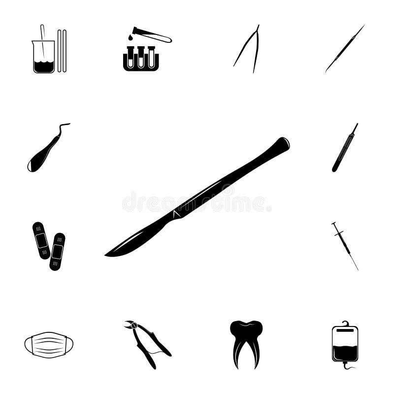 Chirurgicznie skalpel ikona Szczegółowy set medycyn ikony Premii ilości graficznego projekta znak Jeden inkasowe ikony dla websit ilustracja wektor
