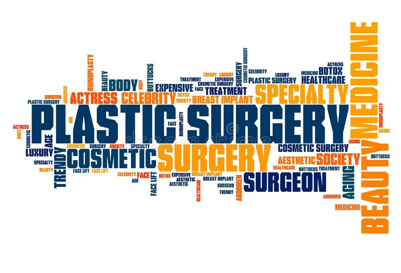 Chirurgie plastique illustration libre de droits