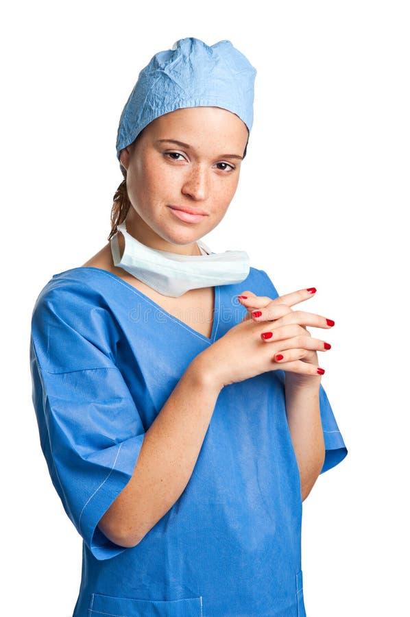Chirurgien féminin images libres de droits