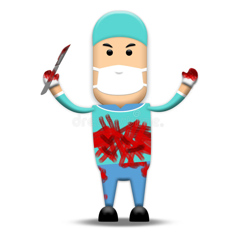 Chirurgien sanglant illustration stock