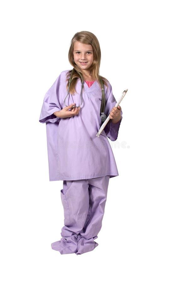 Chirurgienne de petite fille images libres de droits