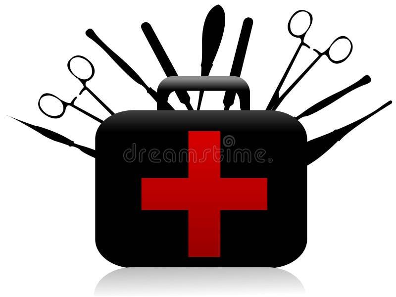Chirurgische hulpmiddelen stock illustratie