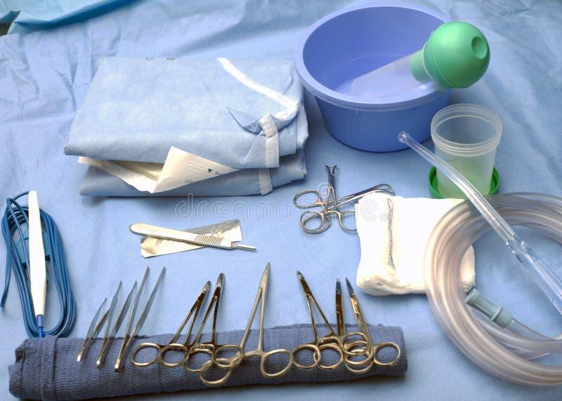 Chirurgische Tabelle stockfotografie