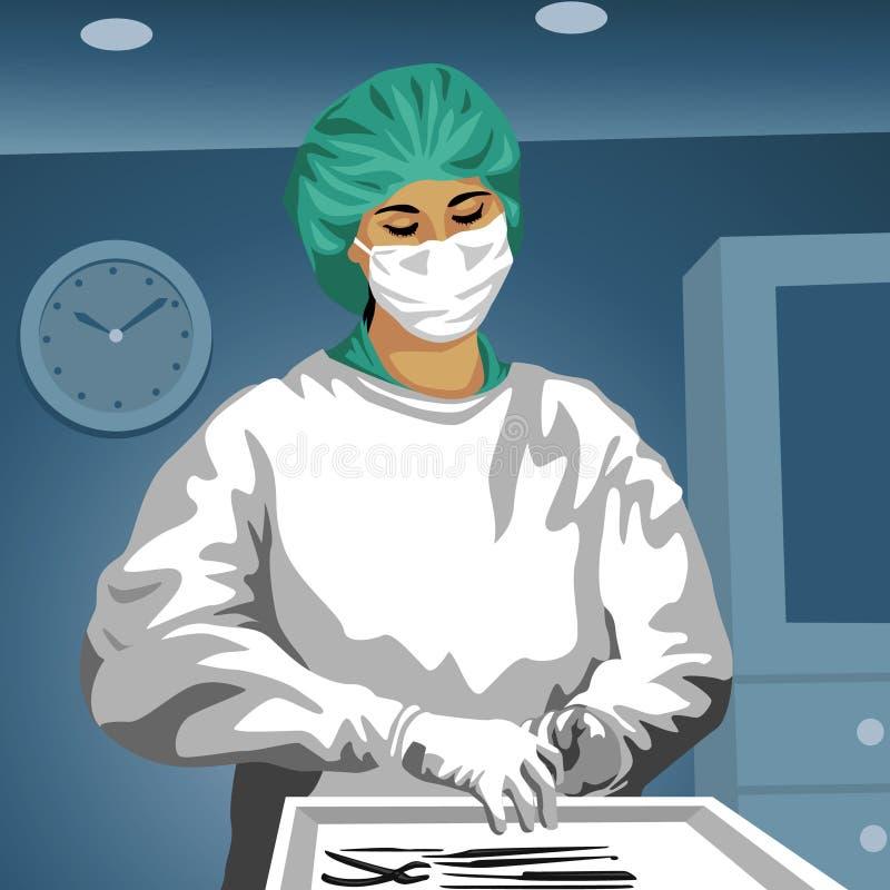 Chirurgo illustrazione di stock