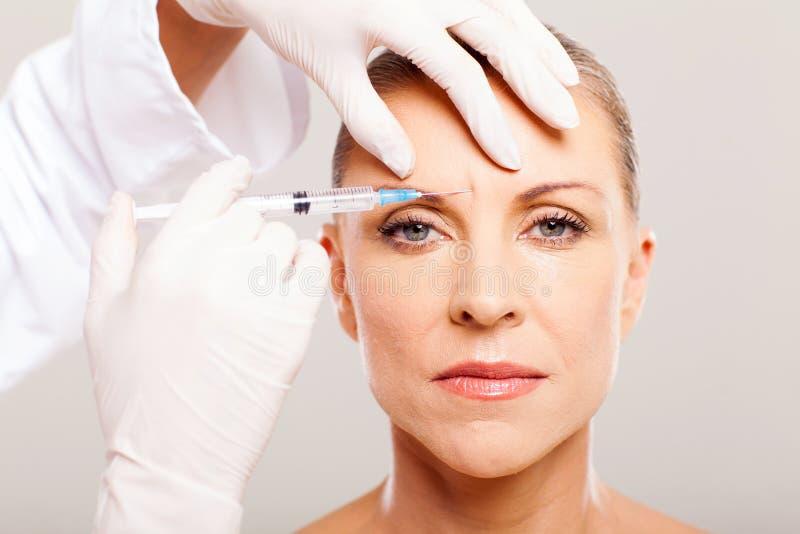 Lifting facciale cosmetico fotografie stock libere da diritti
